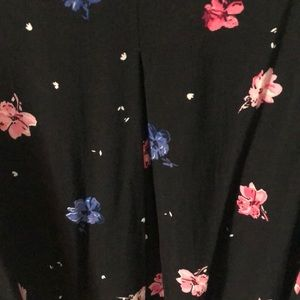 Elle Dresses - Elle black floral sleeveless dress